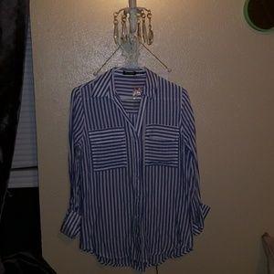 """Brand new, never worn """"Blu pepper"""" stripped shirt."""